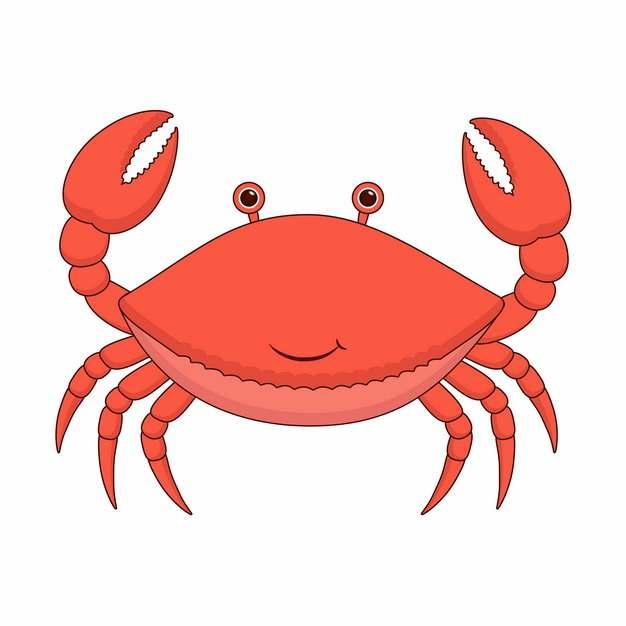 可爱的红色卡通螃蟹931387图片素材