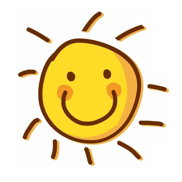 手绘卡通小太阳插画597303png图片素材
