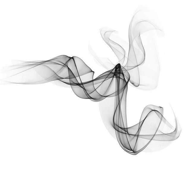 一股缥缈的黑烟浓烟烟雾效果890029png图片素材