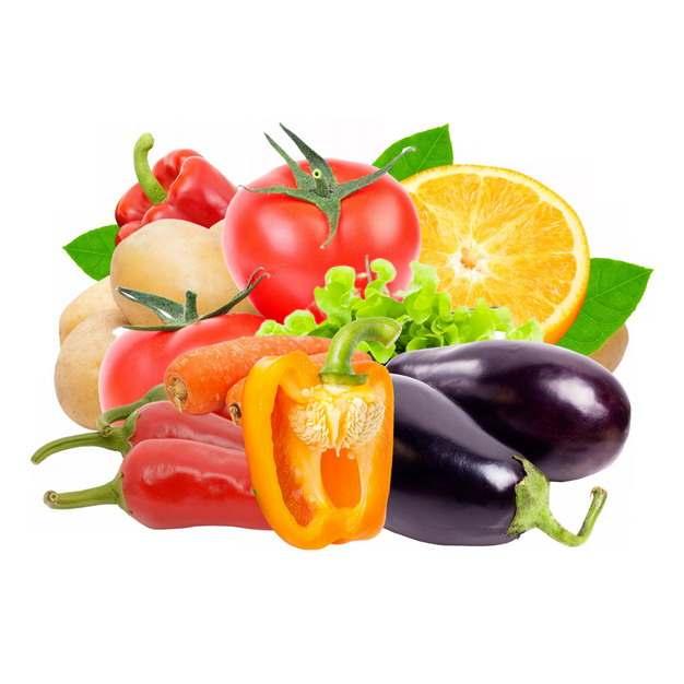 红色灯笼椒西红柿茄子辣椒土豆等美味蔬菜906408图片素材