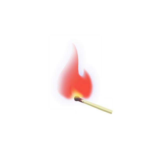 燃烧着红色火焰火苗的火柴931732png图片素材 生活素材-第1张