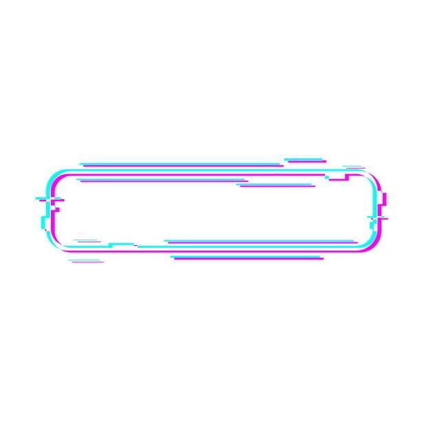 故障风圆角多边形蓝红色边框文本框标题框121123png图片素材
