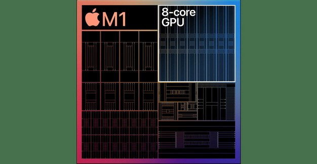 苹果MacBook最新处理器Apple M1芯片结构图片3234547免抠素材 IT科技-第1张