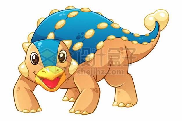一只可爱的卡通甲龙灭绝恐龙295124图片免抠矢量素材
