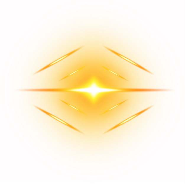 呈菱形的太阳光芒光晕金色光线效果748307png图片素材