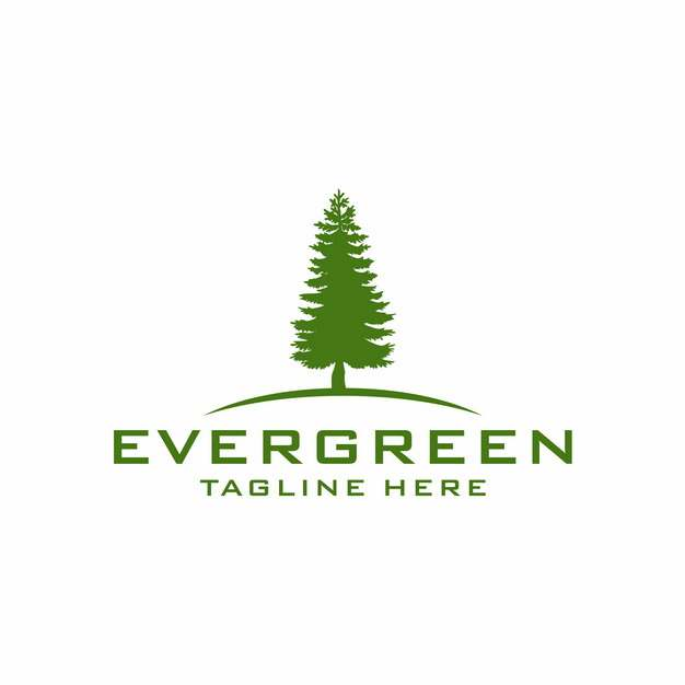 参天大树雪松树绿树logo设计图案794077EPS免抠图片素材