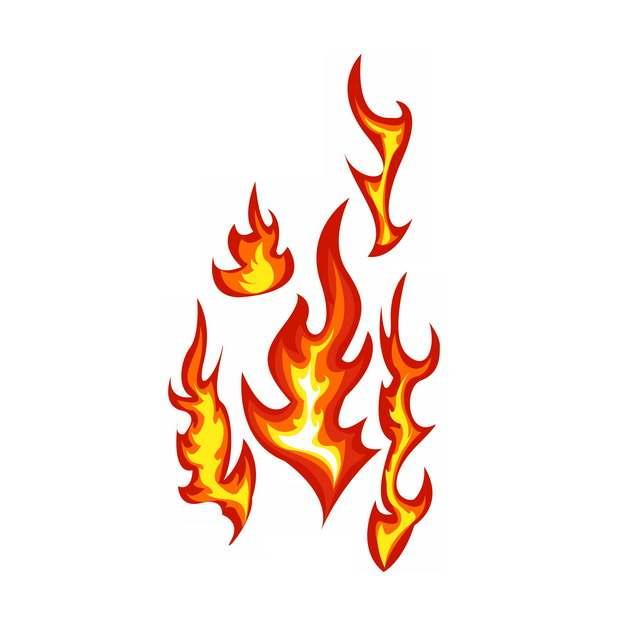 燃烧的红色黄色火焰效果图案180405png图片素材
