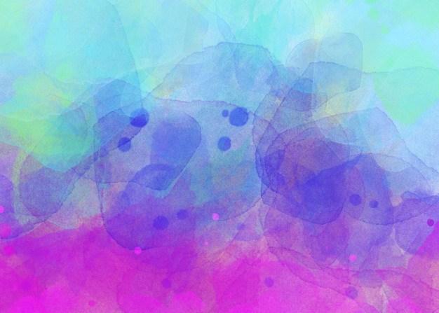 玫红色紫色蓝色绿色水墨风格横版背景图577260 背景-第1张