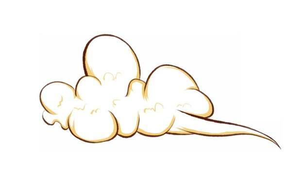 卡通漫画风格的云朵云彩473629图片素材