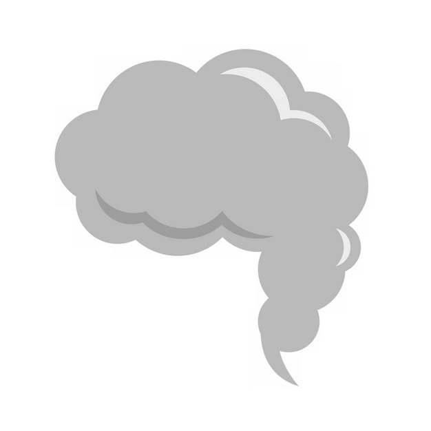 一缕灰色的烟雾冒烟效果乌云图案471213PNG图片素材