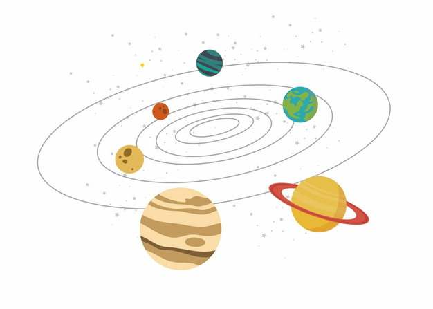 卡通太阳系示意图283147png图片素材