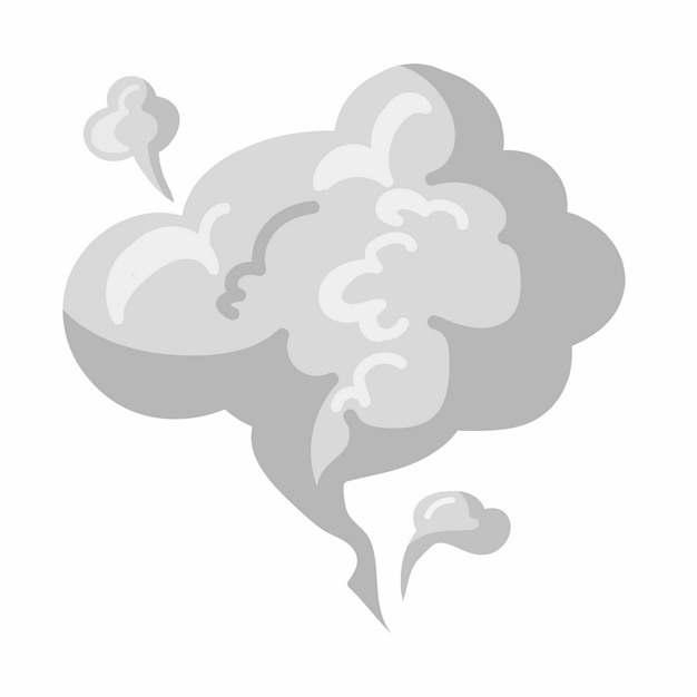 一缕灰色的烟雾冒烟效果图案750488矢量图片素材