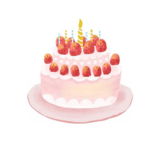 卡通草莓生日蛋糕753404图片素材