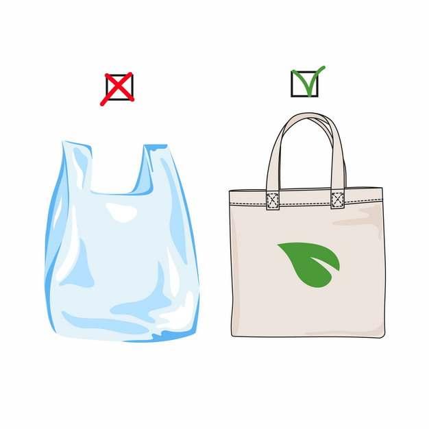 超市塑料袋和布袋子购物袋白色污染339745图片素材