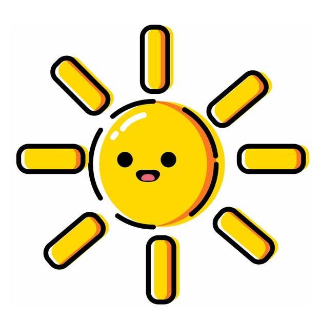 MBE风格卡通小太阳652386png图片素材