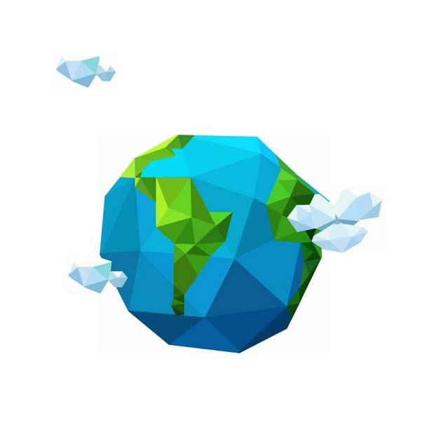 低多边形风格的蓝色地球3D模型405261图片素材