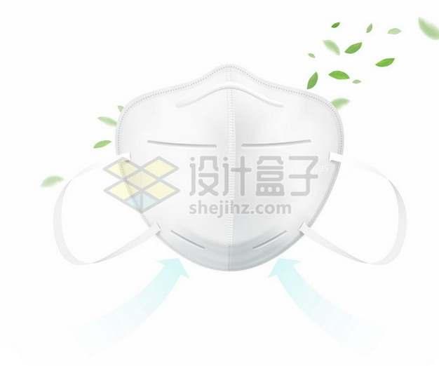 N95口罩过滤空气示意图513389矢量图片免抠素材