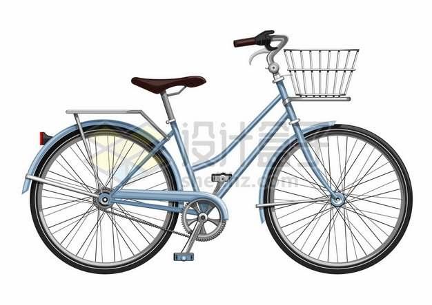 一辆蓝色的自行车侧视图916875图片免抠矢量素材