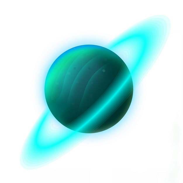 绿色带行星光环的气态巨行星118077图片素材