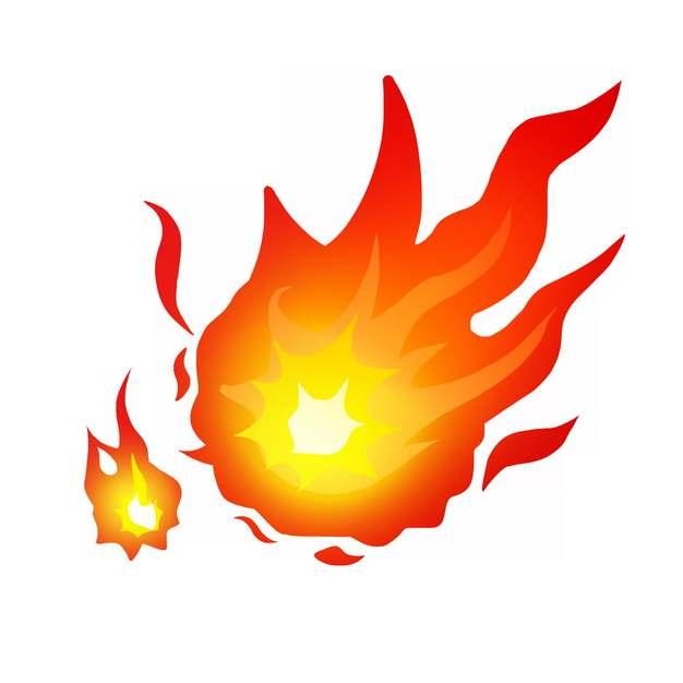 燃烧的卡通火焰火苗图案716997图片素材