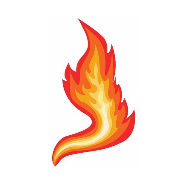 一款缥缈的火焰小火苗图案182899png图片素材