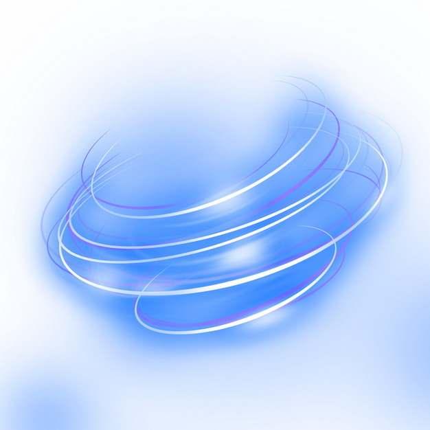 绚丽的蓝色发光曲线旋转线条装饰122218png图片素材