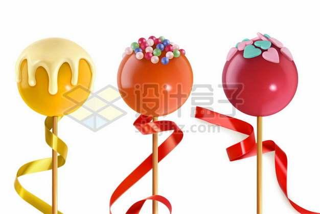 三款美味的糖果棒棒糖135012图片免抠矢量素材