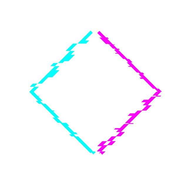 故障风蓝红色多边形边框371688png图片素材