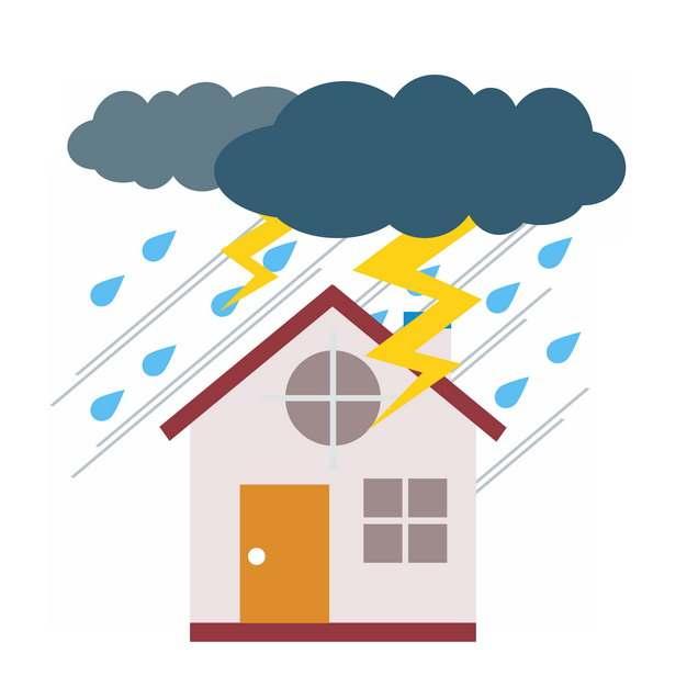 雷雨暴雨闪电自然灾害528845png图片素材