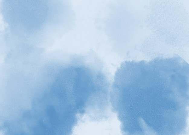 蓝色水墨风格横版背景图956410