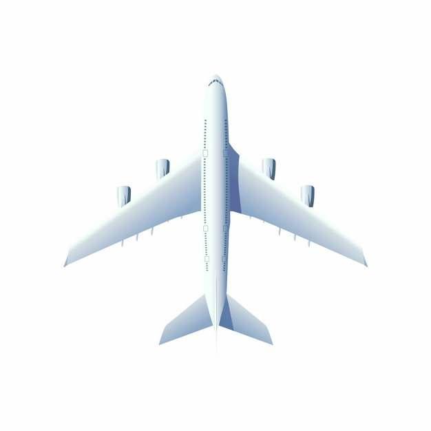 俯视视角的白色大型客机飞机810037图片素材