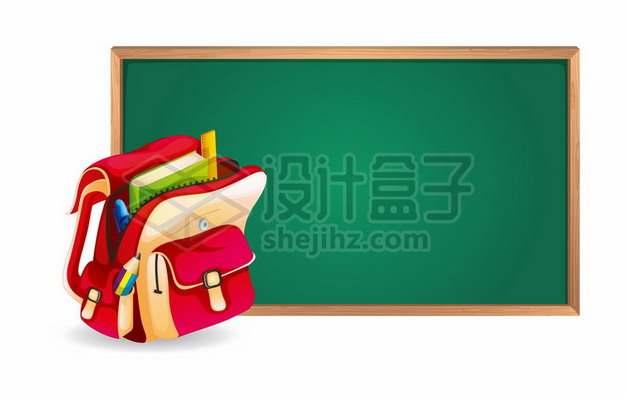 红色的书包和黑板430354eps矢量图片素材