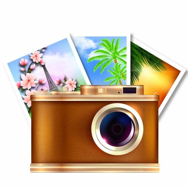 复古照相机和拍摄的照片798104免抠图片素材 IT科技-第1张