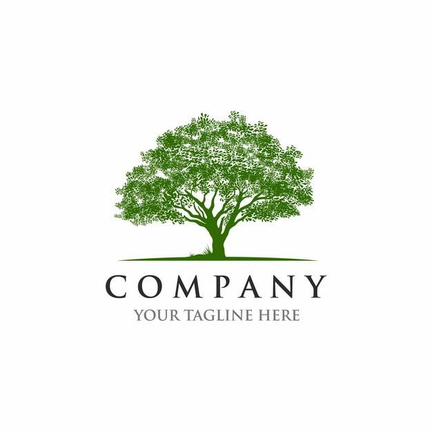 参天大树绿树logo设计图案140145EPS免抠图片素材 标志LOGO-第1张