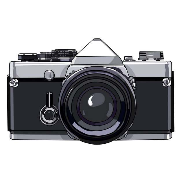 漫画风格的哈苏单反照相机插画533646png图片素材