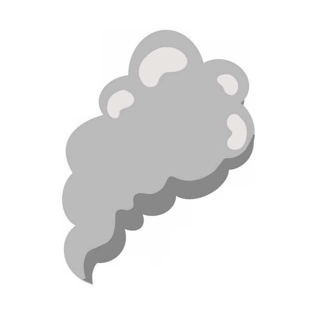 一缕灰色的烟雾冒烟效果图案592788PNG图片素材