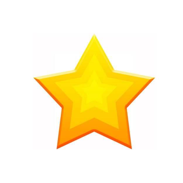 金色同心五角星图案764981免抠图片素材