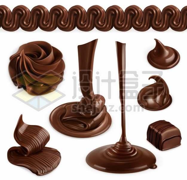 各种巧克力液体效果图877514图片免抠矢量素材