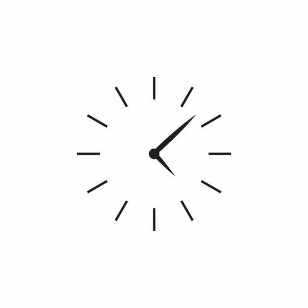 极简风格时钟钟表盘和时针分针图案294331免抠图片素材