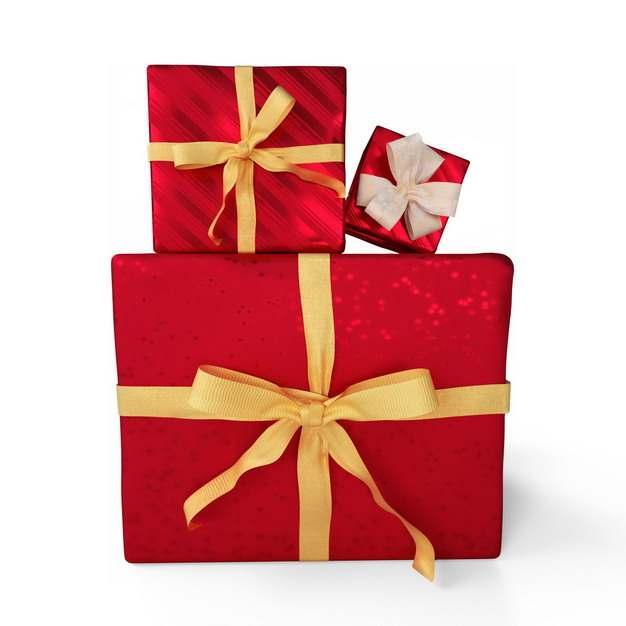 一堆包装精美的红色礼物盒906728png图片免抠素材