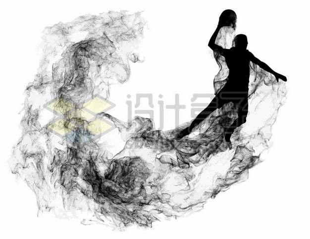 抽象创意篮球运动员打篮球剪影烟雾效果804122图片素材