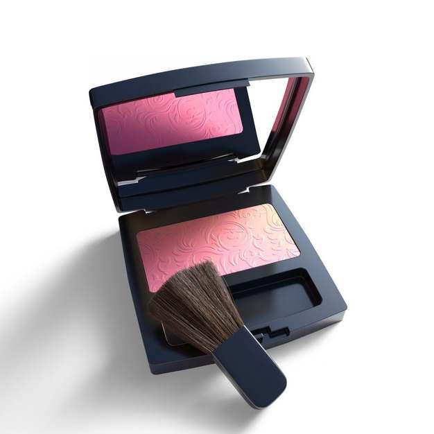 化妆刷和粉饼腮红化妆品699588png图片素材