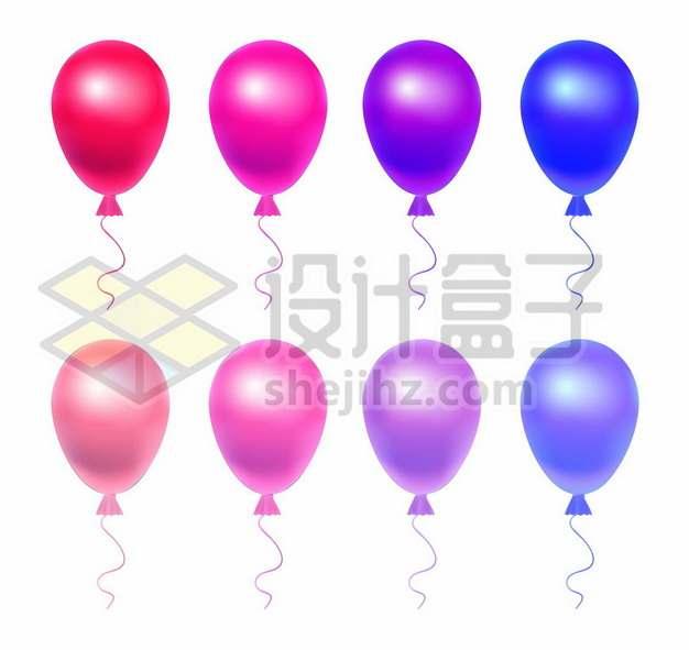 红色粉红色蓝色紫色气球354502图片素材