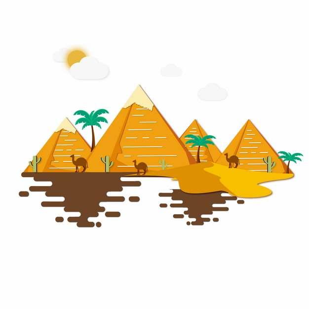 MBE风格埃及金字塔风景插画284062png图片素材