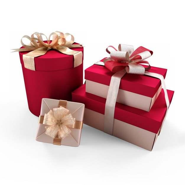 一大堆包装精美的红色金色礼物盒169332png图片免抠素材