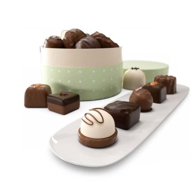 制作精美的3D立体风格巧克力美食100246png图片素材