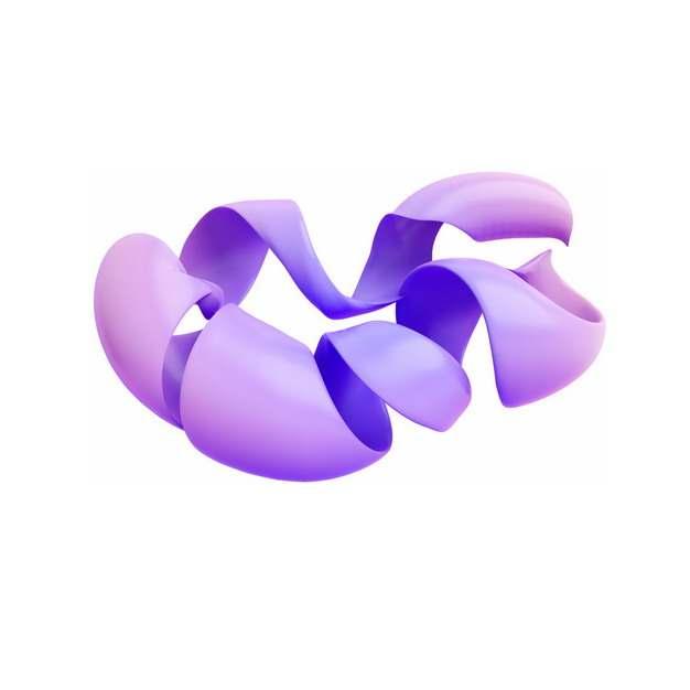 淡紫色的3D立体抽象扭曲的形状167801png图片素材