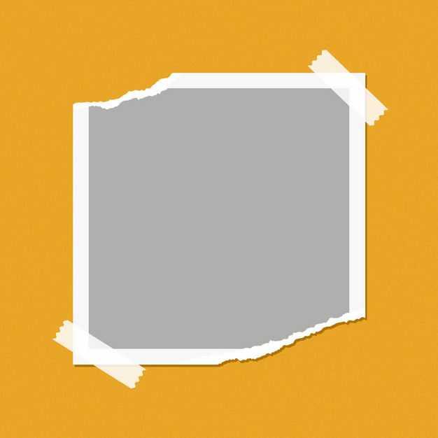 撕坏的相纸用胶带粘住样机效果图177275PSD免抠图片素材