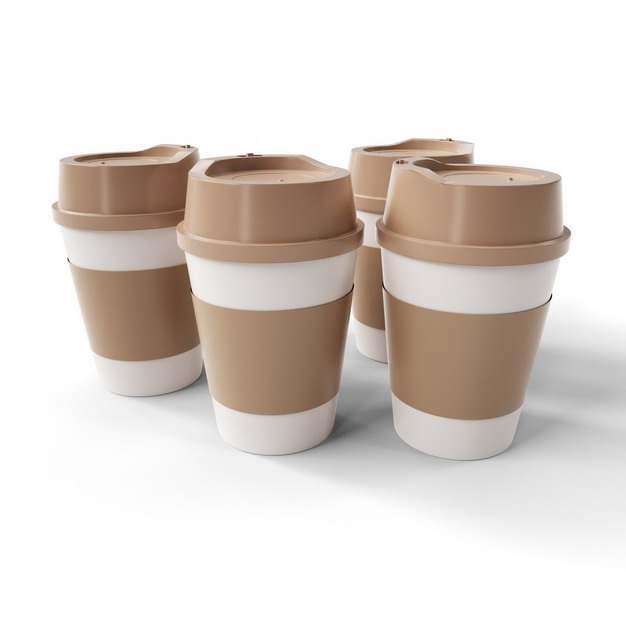 四杯咖啡杯马克杯908660png图片素材