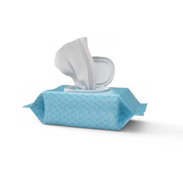 蓝色抽纸巾抽纸盒589020png图片素材